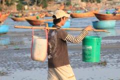 Pueblo pesquero del ne de Vietnam Mui Imagenes de archivo
