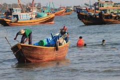 Pueblo pesquero del ne de Vietnam Mui Fotos de archivo libres de regalías
