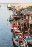 Pueblo pesquero en la provincia de Chumphon Tailandia Foto de archivo