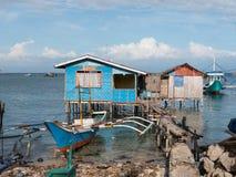 Pueblo pesquero en las Filipinas Fotos de archivo libres de regalías