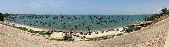 Pueblo pesquero en Phan Thiet, Vietnam Imagen de archivo libre de regalías