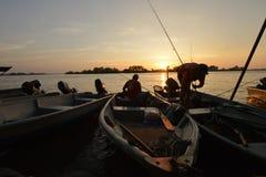 Pueblo pesquero en Teluk Intan Foto de archivo libre de regalías