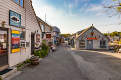 Pueblo pesquero encantador de Rockport, Massachusetts Imagen de archivo