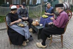 Pueblo pesquero holandés del siglo XIX - Zuiderzee - Países Bajos fotos de archivo
