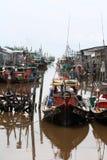 Pueblo pesquero malasio fotos de archivo