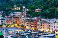 Pueblo pesquero pintoresco Portofino, Liguria, Italia imagen de archivo