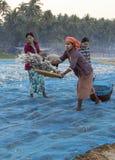 Pueblo pesquero - playa de Ngapali - Myanmar (Birmania) imagen de archivo
