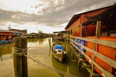 Pueblo pesquero, Sekincha, Selangor Malasia Fotos de archivo libres de regalías