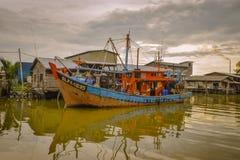 Pueblo pesquero, Sekincha, Selangor Malasia Foto de archivo