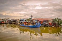 Pueblo pesquero, Sekincha, Selangor Malasia Fotografía de archivo libre de regalías