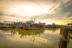 Pueblo pesquero, Sekincha, Selangor Malasia Imagen de archivo