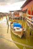 Pueblo pesquero, Sekincha, Selangor Malasia Fotografía de archivo