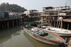 Pueblo pesquero Tai O Fotografía de archivo