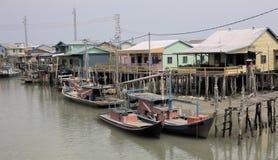 Pueblo pesquero viejo Fotografía de archivo libre de regalías