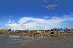 Pueblo Pulau Ketam (isla) del cangrejo, Malasia Imagen de archivo libre de regalías