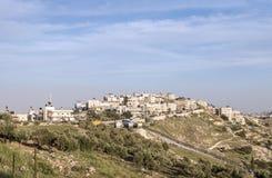 Pueblo árabe de Sur Baher en Jerusalén Imágenes de archivo libres de regalías