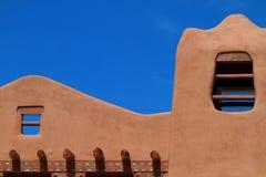 Pueblo-revival style building Stock Images