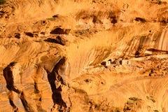 Pueblo Rock Dwellings. Ancient Anasazi rock dwellings in Canyon de Chelly, Arizona Stock Photo