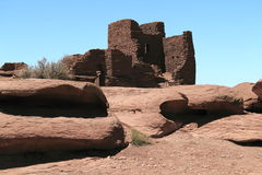 Pueblo rocoso Imagen de archivo