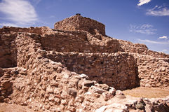 Pueblo Ruins. These are the ruins of an ancient Native American pueblo at Tuzigoot National Monument just outside Sedona, Arizona Stock Images