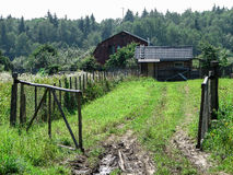 Pueblo ruso en la región de Kaluga Foto de archivo libre de regalías
