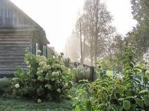 Pueblo ruso en la región de Kaluga Fotos de archivo libres de regalías