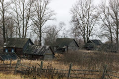 Pueblo ruso Paltsevo Imagen de archivo