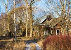 Pueblo ruso Paltsevo Imagen de archivo libre de regalías