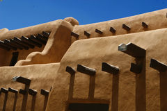 Pueblo style barred dormers Royalty Free Stock Photography