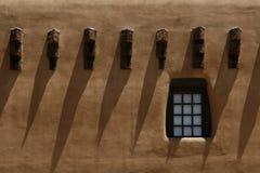 Pueblo style barred dormers Stock Image