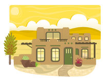 Pueblo Style House Royalty Free Stock Photo