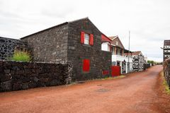 Pueblo típico de las Azores Imágenes de archivo libres de regalías