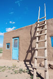 Pueblo in Taos Stockbild