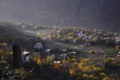 Pueblo tibetano en Sichun fotos de archivo