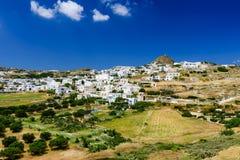 Pueblo tradicional de Cycladic Imagenes de archivo