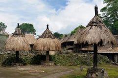 Pueblo tradicional en Bajawa, Indonesia Imagen de archivo