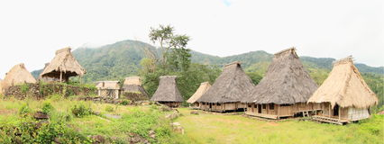 Pueblo tradicional en museo al aire libre en Wologai Fotografía de archivo libre de regalías