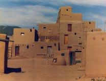 Pueblo van de adobe Stock Fotografie