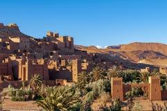 Pueblo viejo Ayuda-Ben-Haddou en Marruecos foto de archivo