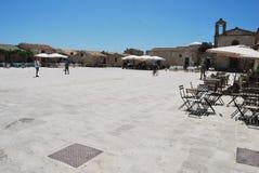 Pueblo viejo de Marzamemi, Sicilia, Italia Foto de archivo
