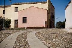 Pueblo viejo de Sardinia.Abandoned Imagenes de archivo