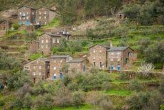 Pueblo viejo del moutain en Portugal fotos de archivo libres de regalías