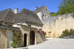 Pueblo viejo del Santo-Amand-de-Coly Fotografía de archivo libre de regalías