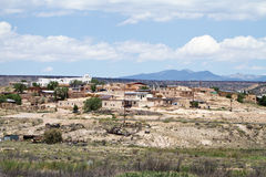Pueblo view in New Mexico Royalty Free Stock Image