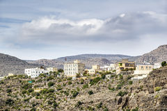 Pueblo Wadi Bani Habib Imagen de archivo libre de regalías
