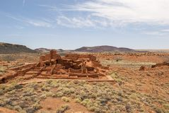 Pueblo at Wupatki National Park. Ruins of a Pueblo in Wupatki National Park Stock Image