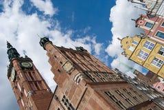Pueblo y ciudad viejo Pasillo de Gdansk Fotografía de archivo