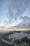 Pueblos blancos στο ηλιοβασίλεμα Στοκ Φωτογραφίες