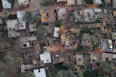 Pueblos cerca de Asuán en Egipto Imagen de archivo libre de regalías