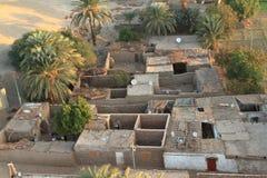 Pueblos cerca de Asuán en Egipto Imagen de archivo